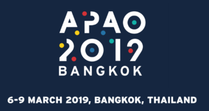 APAO 2019, Bangkok. Our booth #G60-61